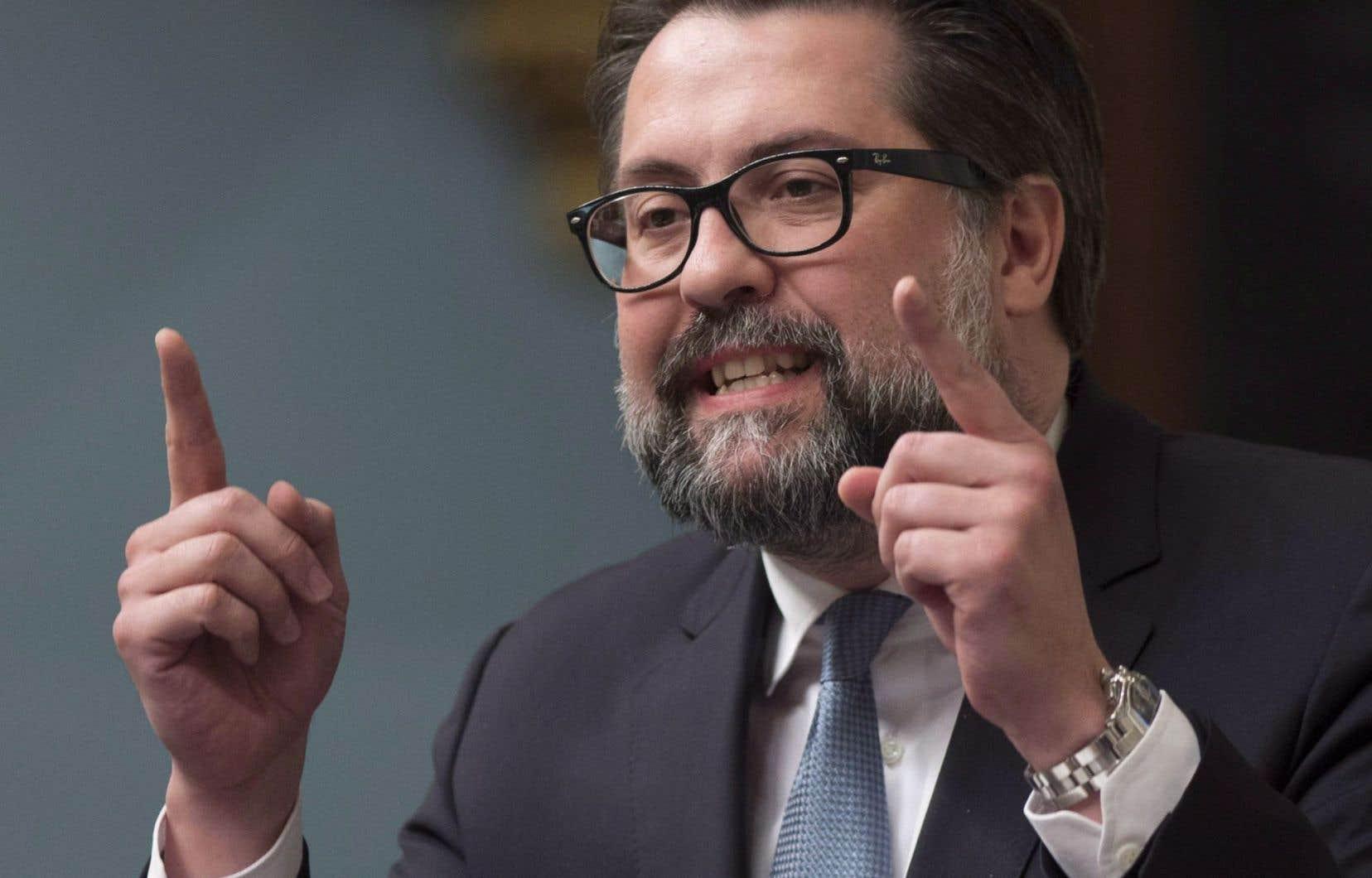 Le ministre du Développement durable, David Heurtel