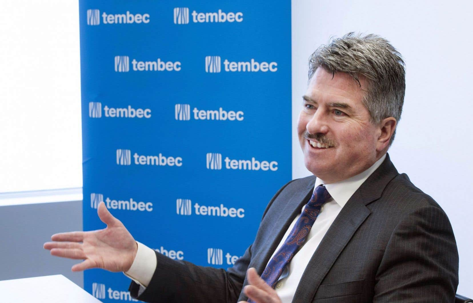 Le p.-d.g. de Tembec, James Lopez