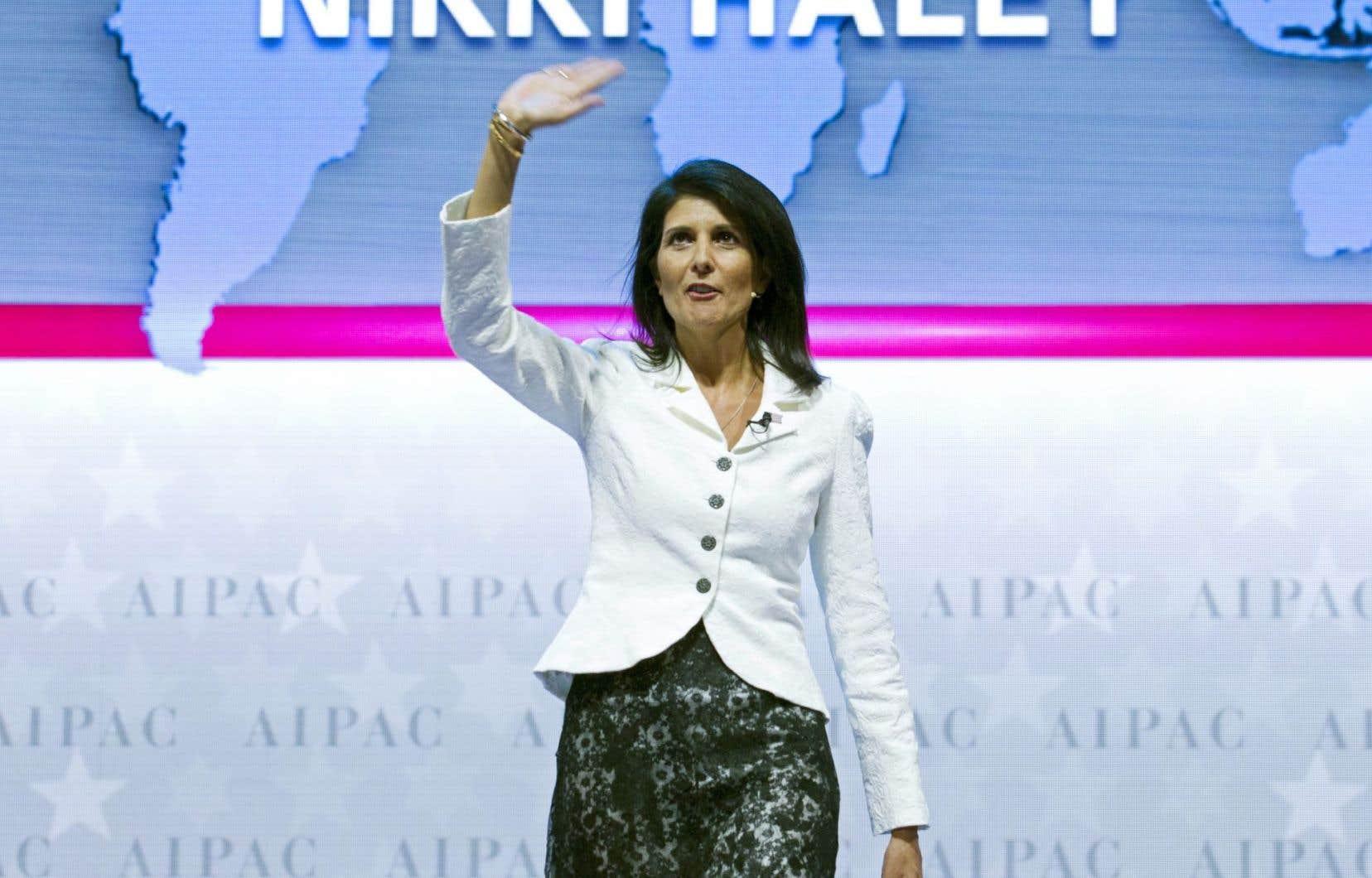 La nouvelle ambassadrice des États-Unis à l'ONU Nikki Haley