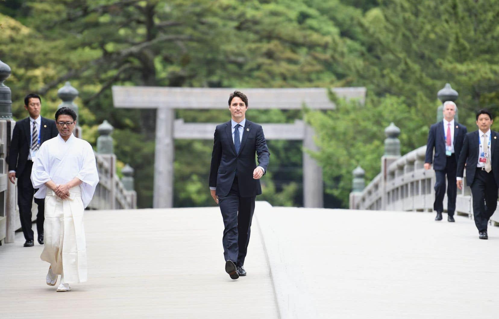Le premier ministre Justin Trudeau au Japon
