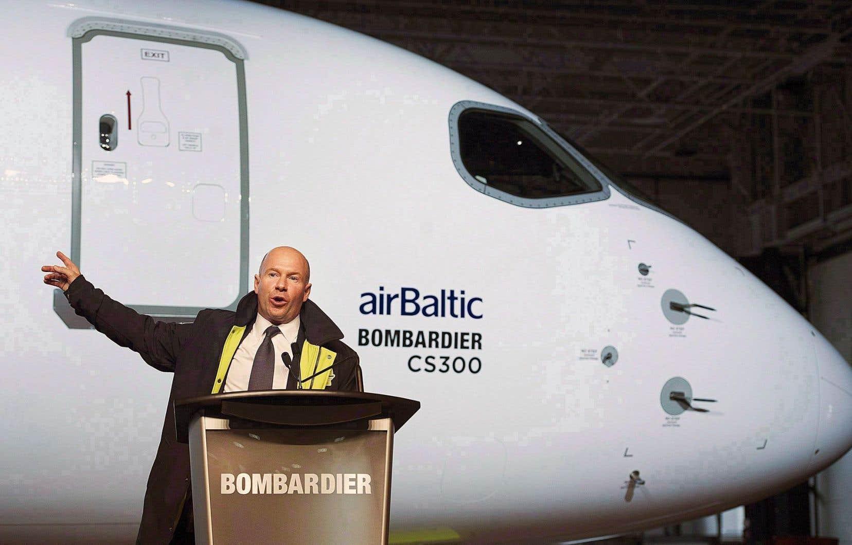 Le p.-d.g. de Bombardier, Alain Bellemare