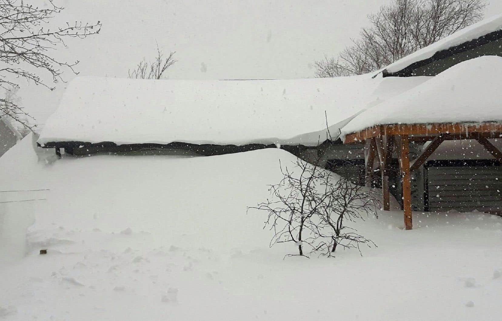<p>À Gander, une maison est ensevelie sous la neige.</p>