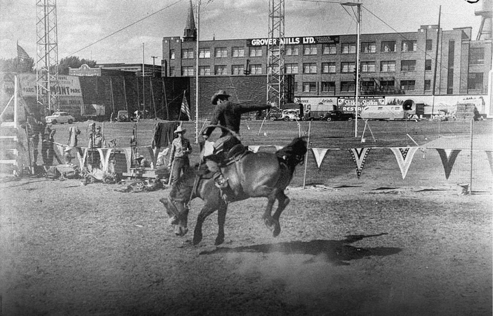 Rodéo au stade Delorimier en 1946