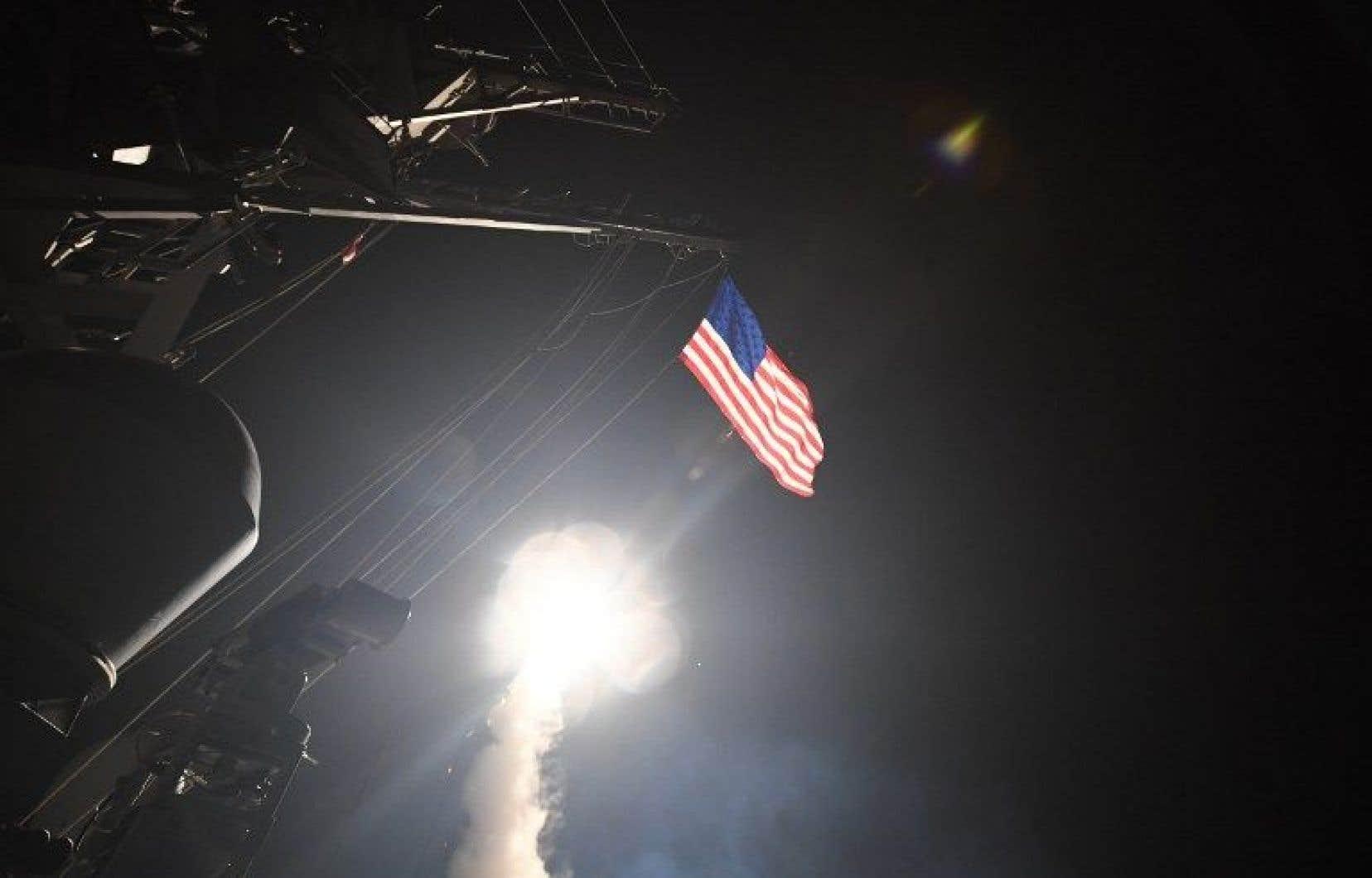 Les missiles ont été tirés depuis les bateaux de guerre américains <em>USS Porter</em> et <em>USS Ross</em> qui se trouvent actuellement en Méditerranée orientale.