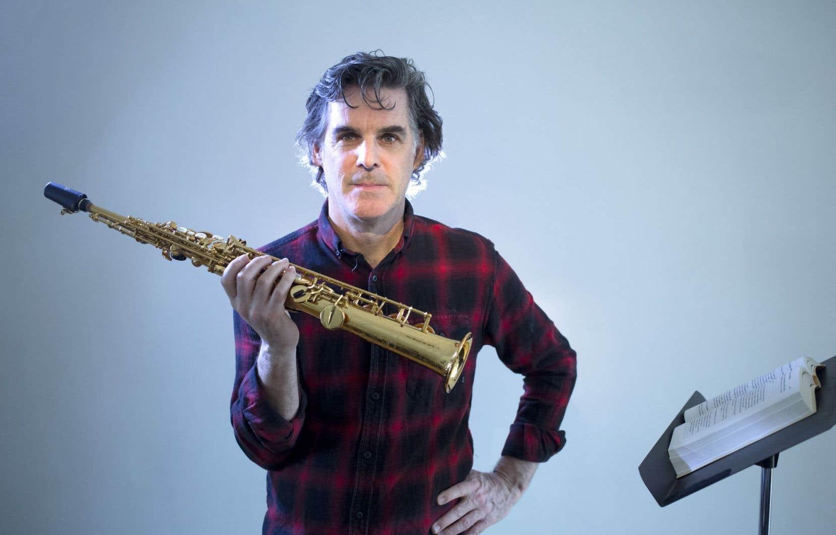 «Moi, ce qui m'intéresse toujours, c'est la création», relate le compositeur-saxophoniste Pierre Labbé.