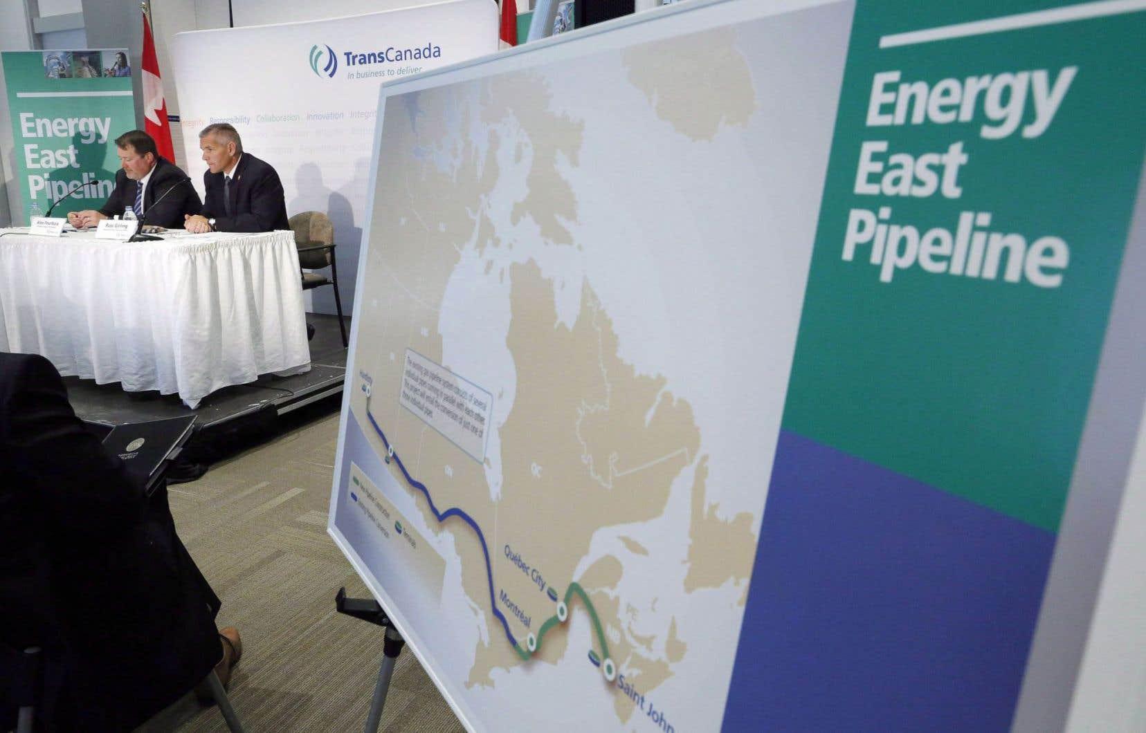 Seul le projet Énergie Est est vraiment encore un enjeu puisque toutes les autres options de transport, sur notre territoire, sont déjà en cours.