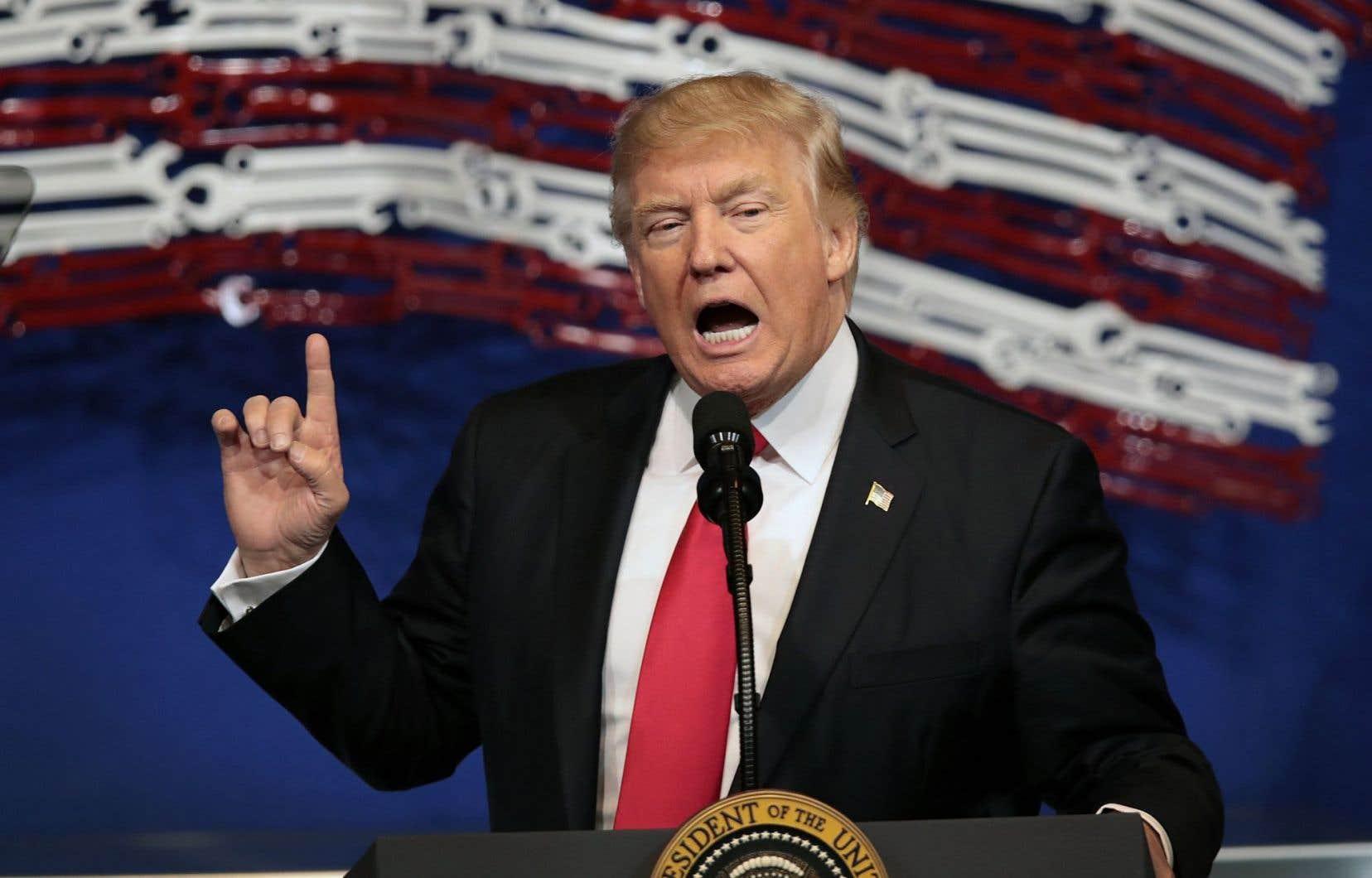 Le président américain, Donald Trump, a évoqué mardi «des choses très injustes».
