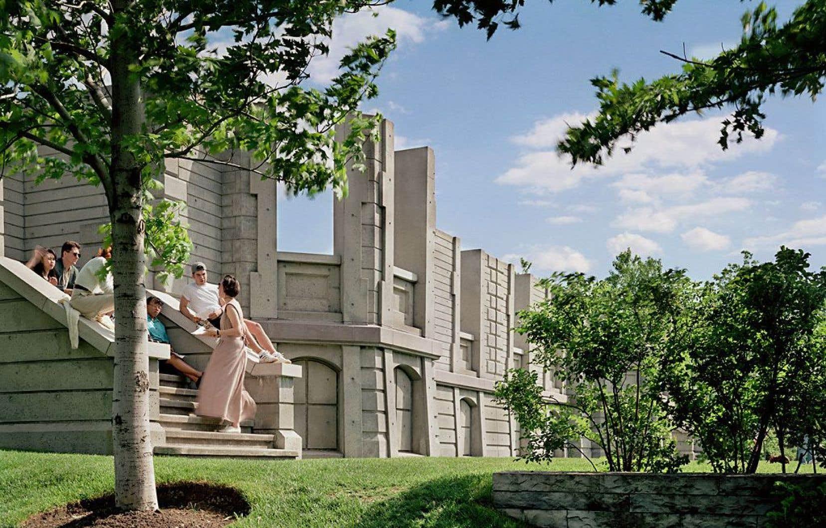Vue du jardin du Centre canadien d'architecture