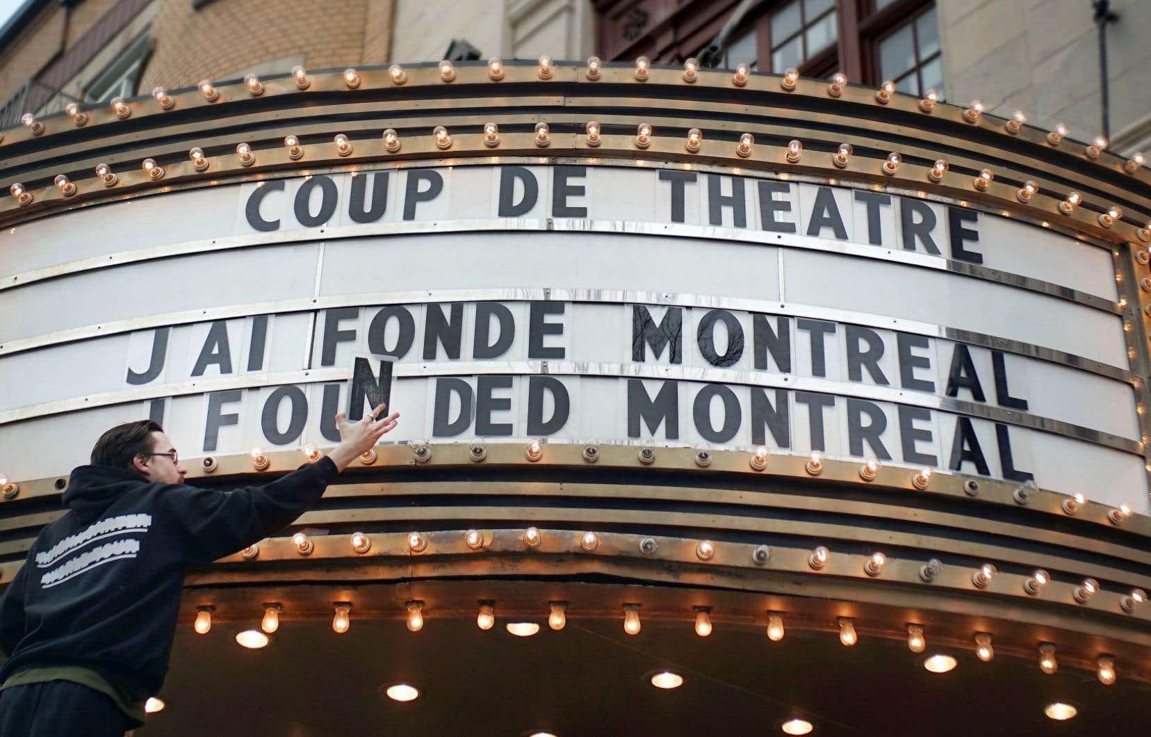 Annonce de la prochaine exposition du Musée Marguerite-Bourgeoys intitulée «Coup de théâtre: j'ai fondé Montréal!»