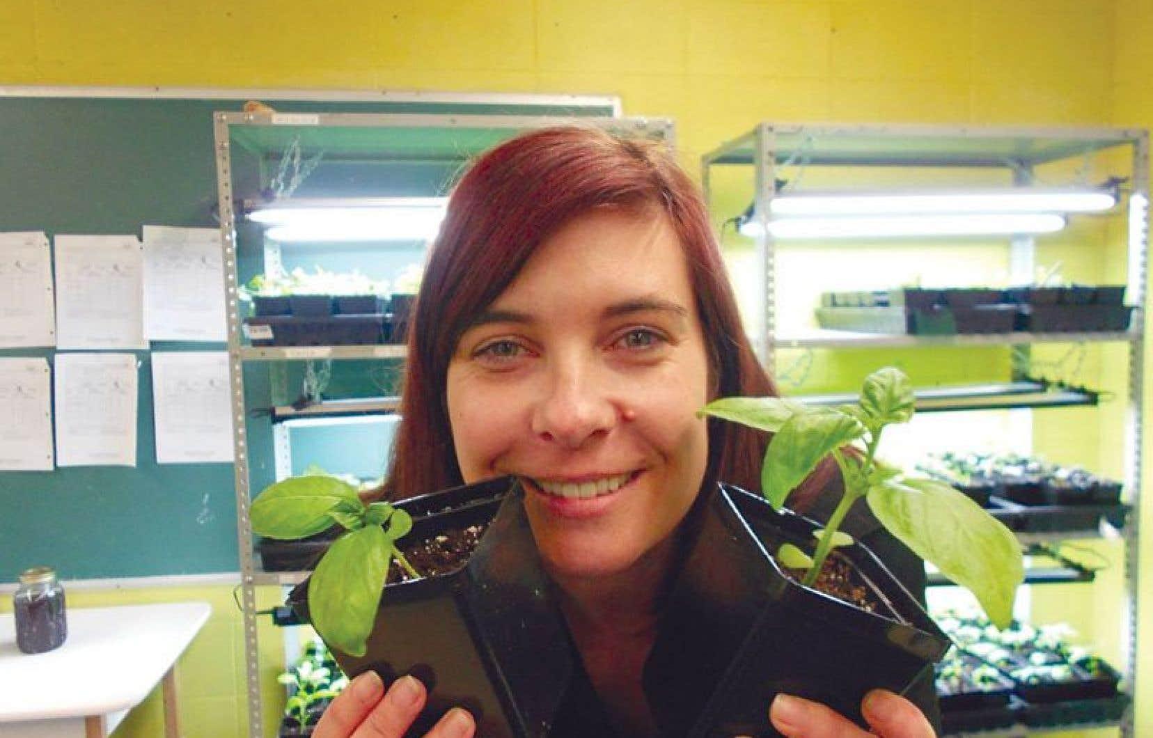 L'enseignante Karine Lévesque a eu l'idée de transformer la pelouse inutilisée de son école en potager pour la communauté.