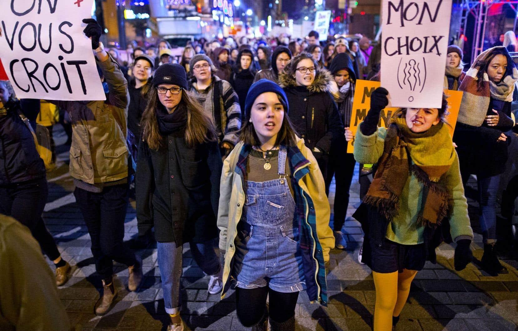 Manifestation contre la culture du viol à Montréal, le 26 octobre 2016