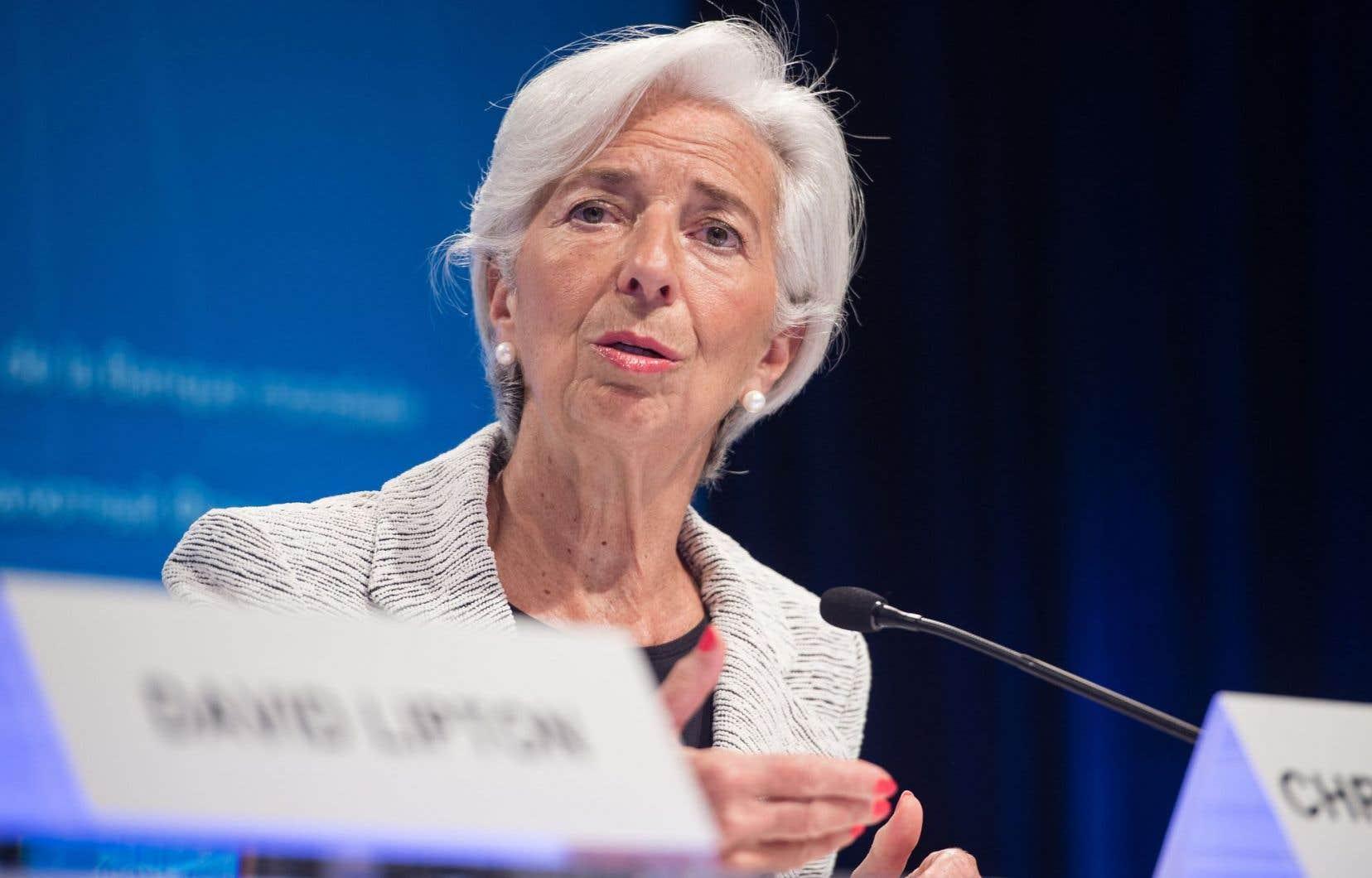 La présidente du Fonds monétaire international, Christine Lagarde