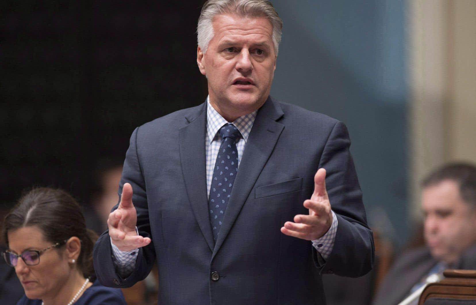 Le ministre de l'Agriculture, Laurent Lessard