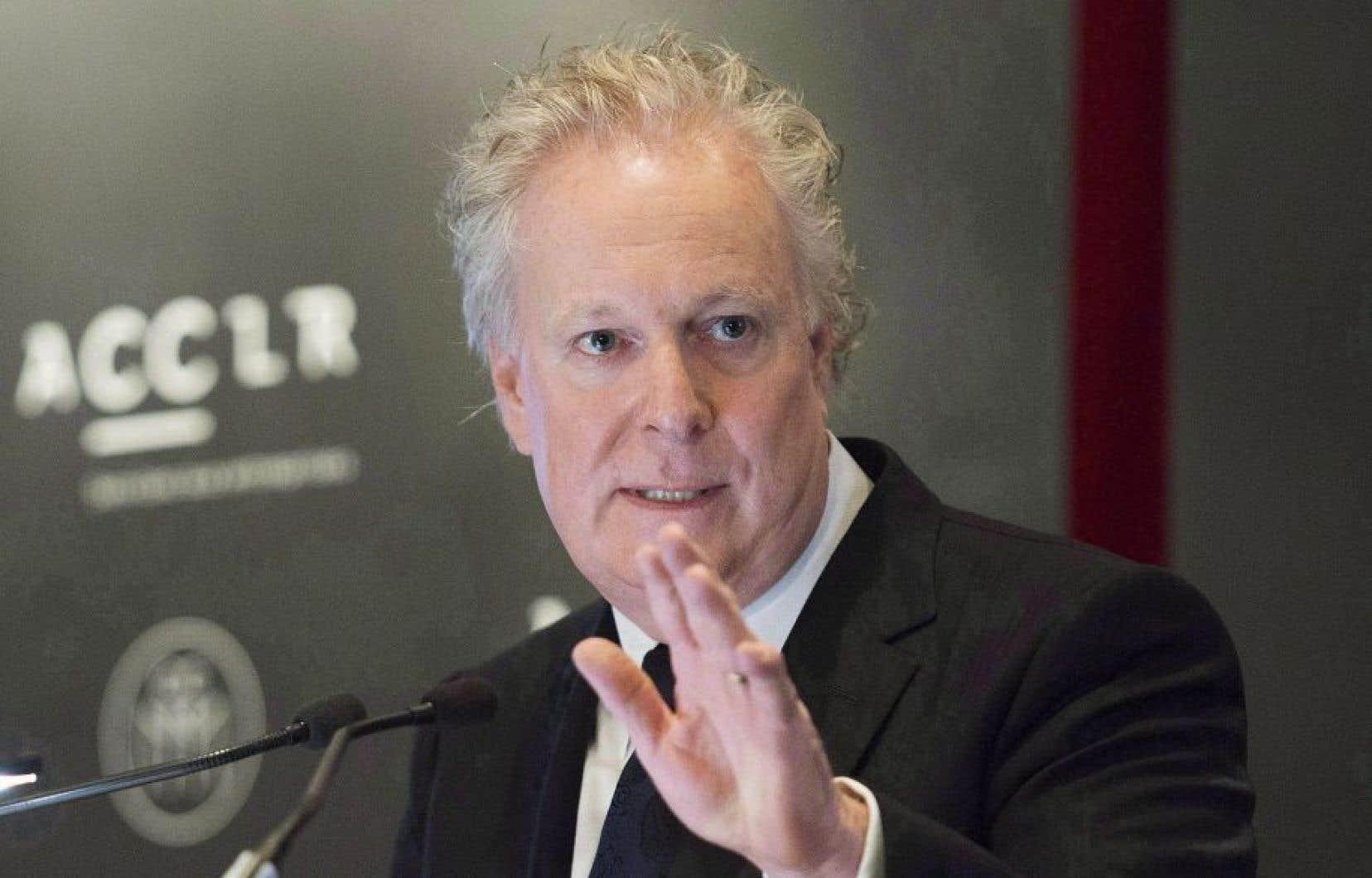 L'ancien premier ministre québécois Jean Charest