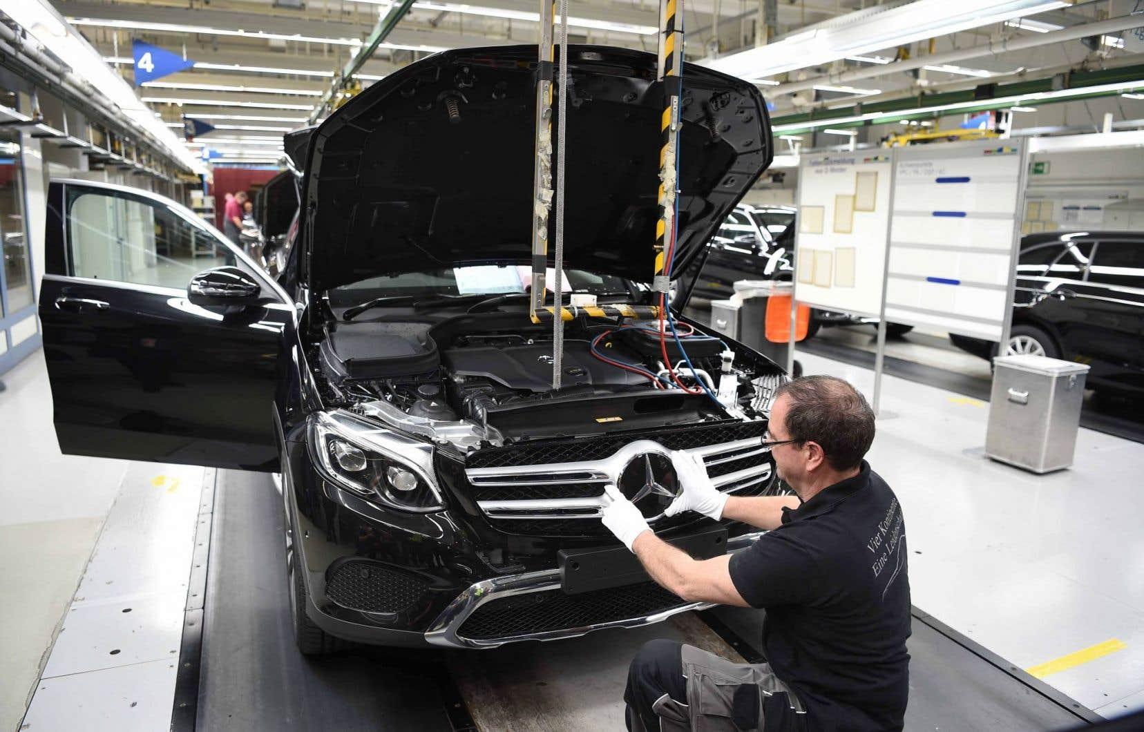 Une usine Mercedes en Allemagne