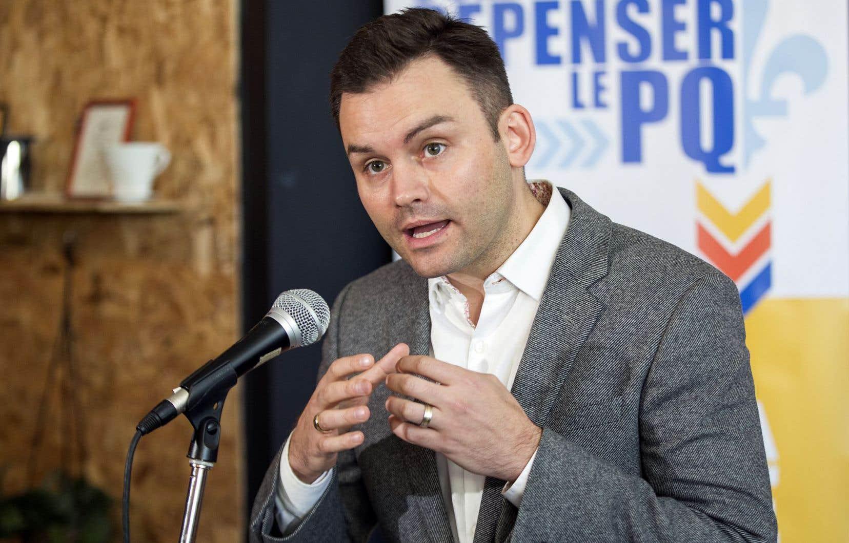 Paul St-Pierre Plamondon lors du lancement de la tournée «Osez repenser le PQ», en novembre 2016. Le militant invite aujourd'hui le parti à «revoir la notion de nationalisme de manière à valoriser un nationalisme civique et inclusif».