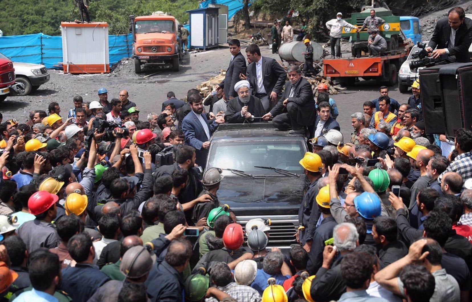Selon les médias iraniens, plusieurs mois de salaire des employés de la mine, qui appartient à une société privée, n'ont pas été payés.