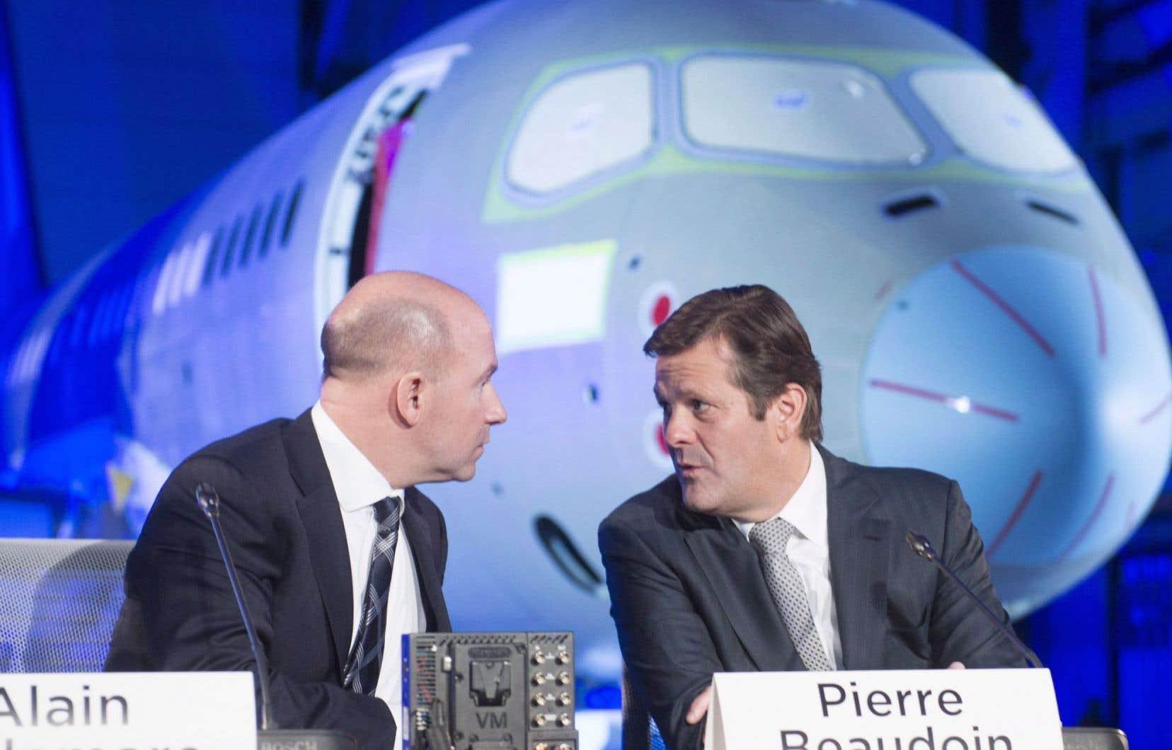 Le président et chef de la direction de Bombardier, Alain Bellemare, et le président exécutif du conseil d'administration, Pierre Beaudoin