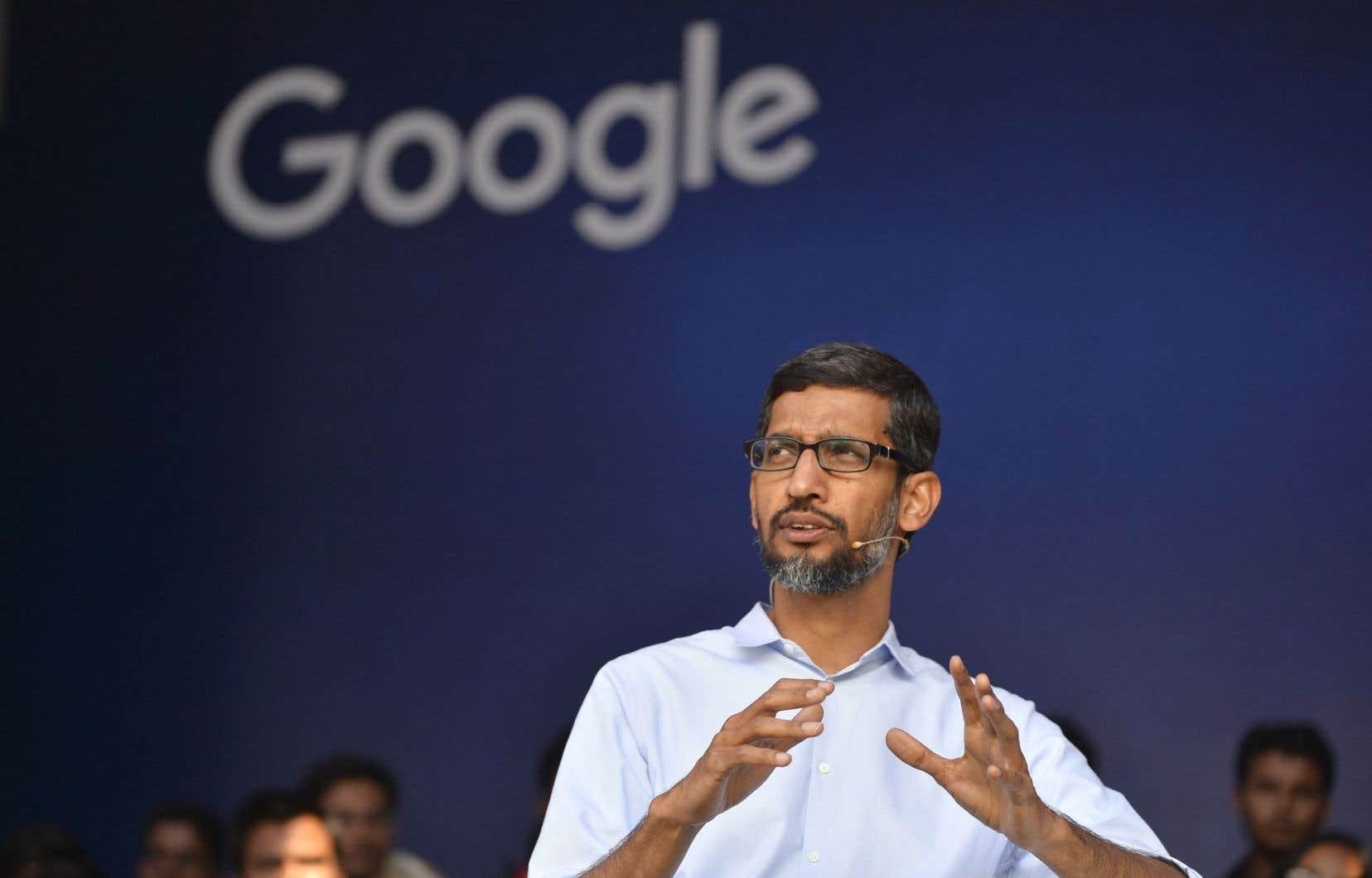 Le haut du classement est occupé par le p.-d.g. d'Alphabet, maison mère de Google, Sundar Pichai.
