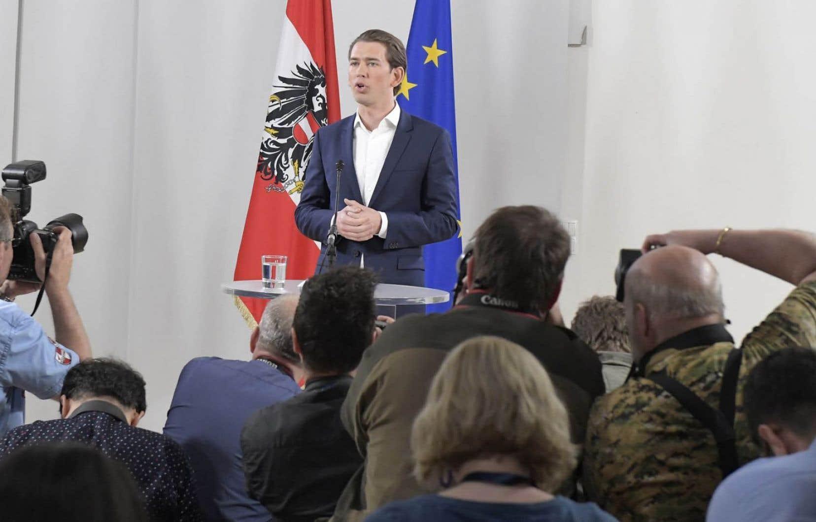 Le chef de la diplomatie autrichienne, Sebastian Kurz