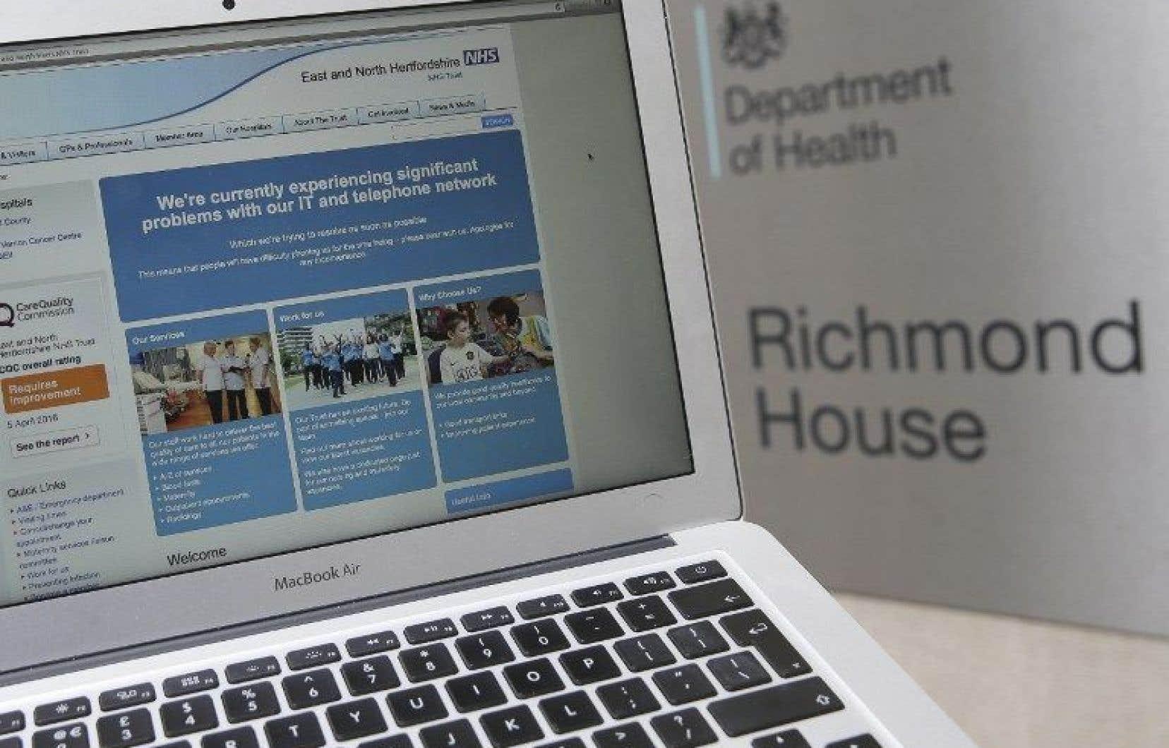 Le service public de santé britannique NHS semble avoir été l'une des premières et principales victimes.