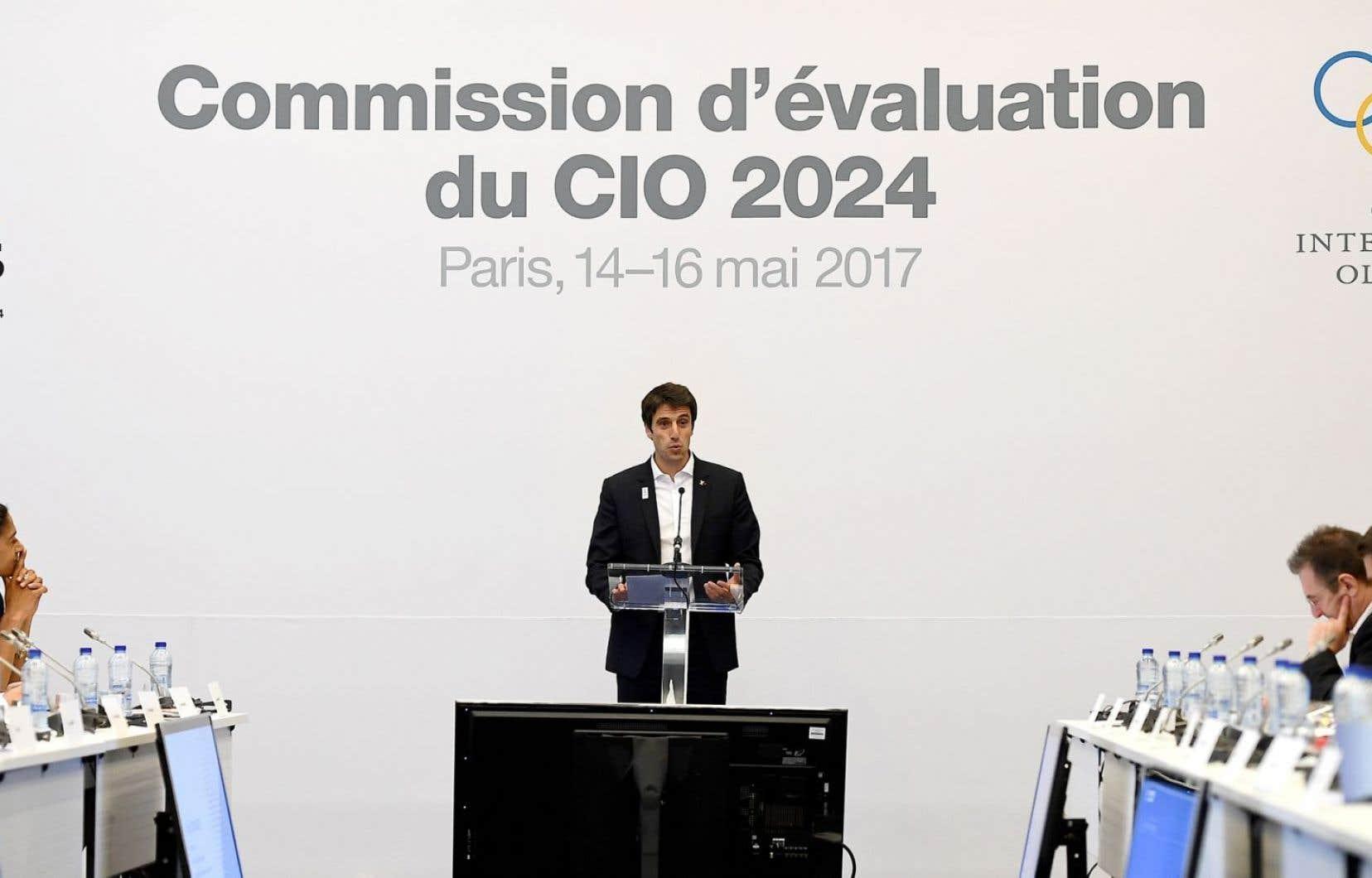 Tony Estanguet, copresident de la candidature de la ville de Paris