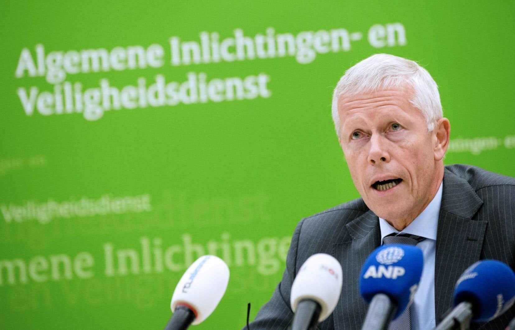 Le chef des services secrets néerlandais, Rob Bertholee