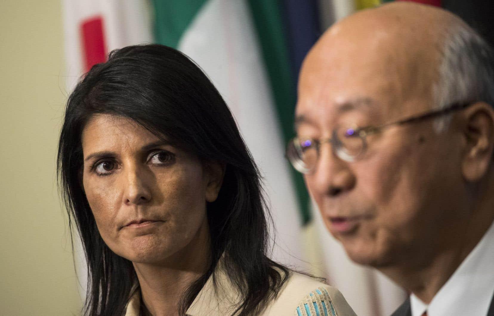 L'ambassadrice américaine aux Nations unies Nikki Haley