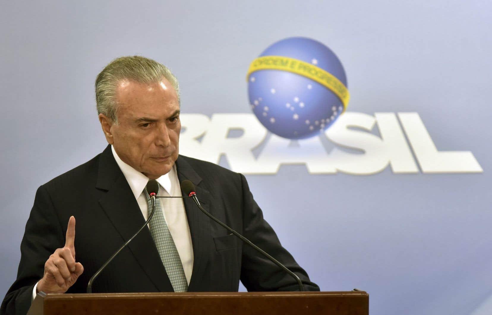 Le président brésilien, Michel Temer