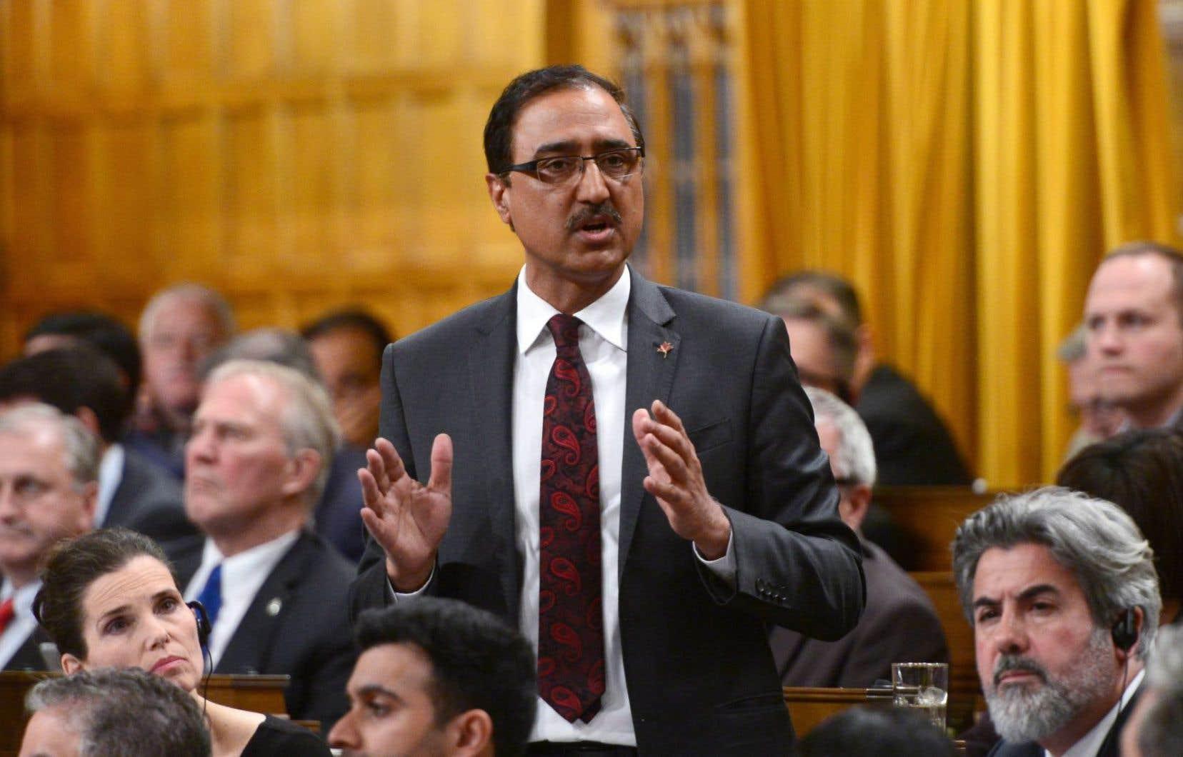 Le ministre fédéral de l'Infrastructure et des Collectivités, Amarjeet Sohi