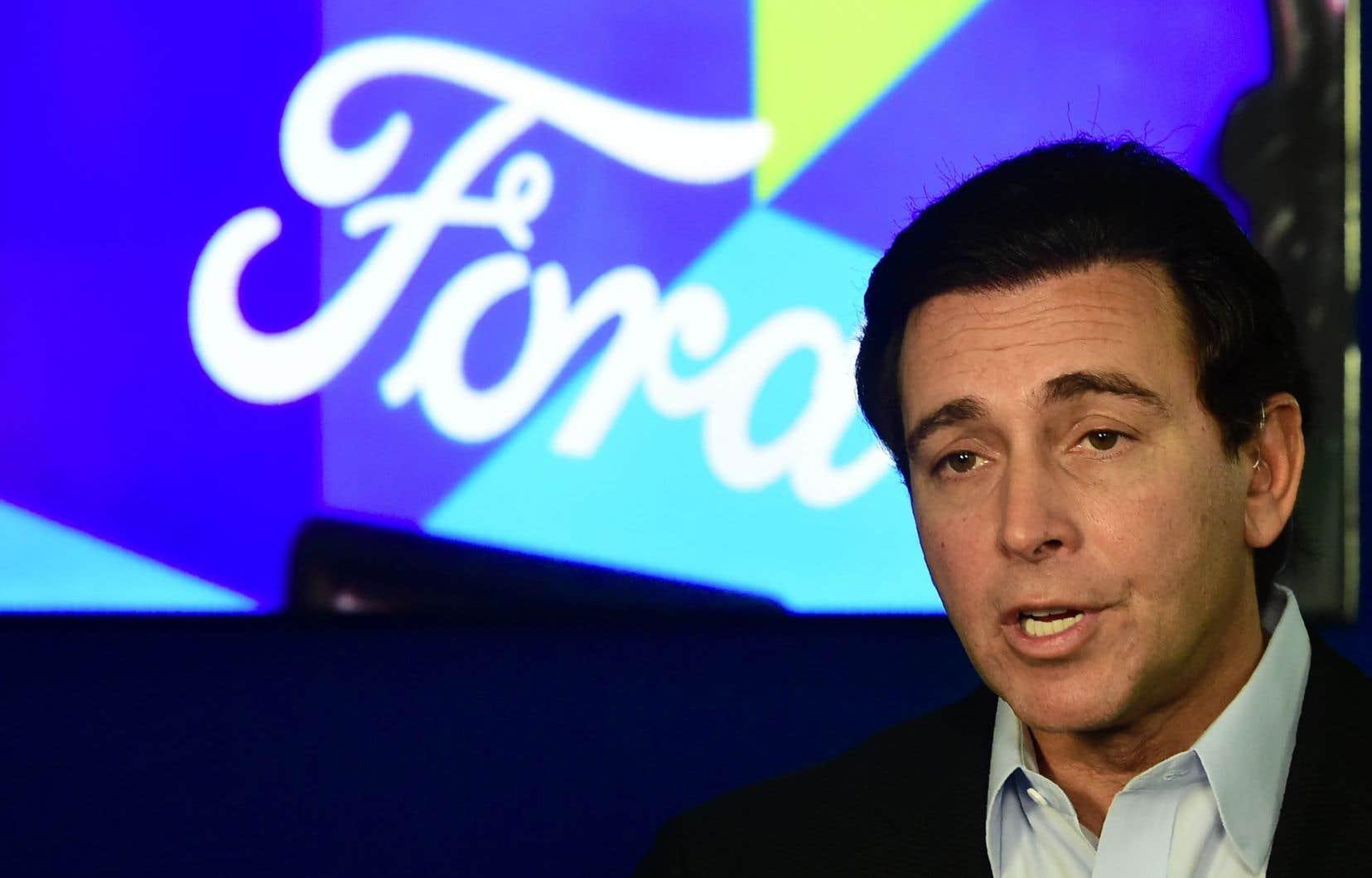 Mark Fields, 56 ans, avait pris la tête de Ford il y a tout juste trois ans.