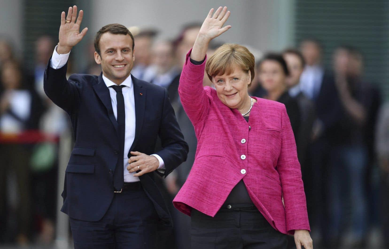 Emmanuel Macron est en général aligné sur les positions d'Angela Merkel.