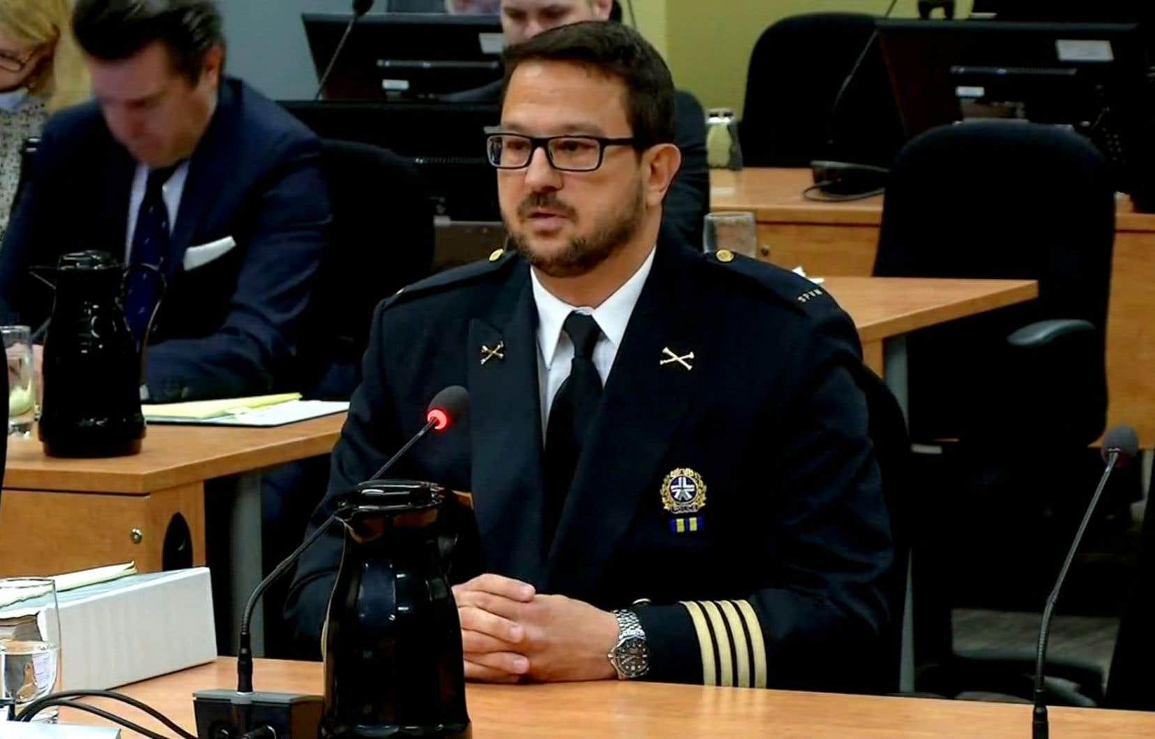L'inspecteur-chef Costa Labos était à la barre des témoins mardi.