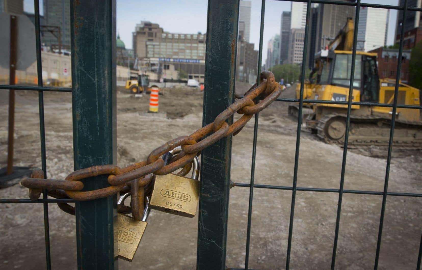 Tous les secteurs de la construction sont en arrêt de travail.