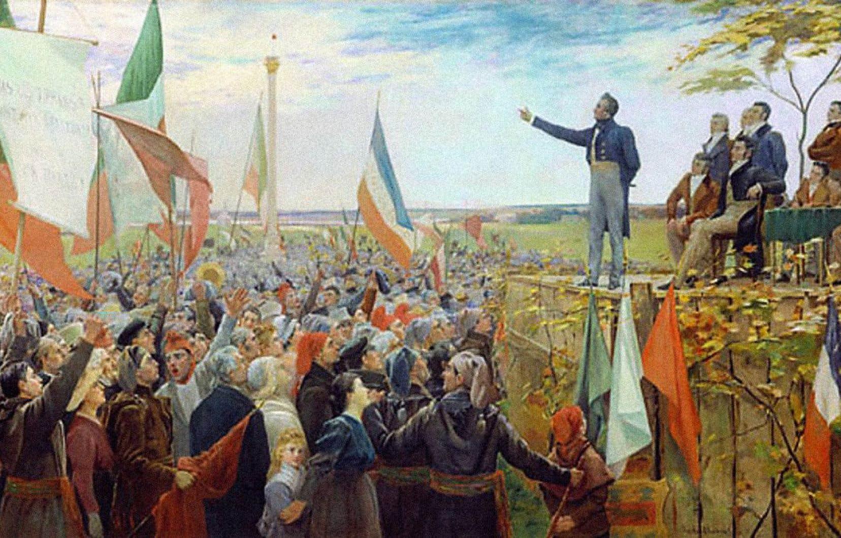 Louis-Joseph Papineau, chef du Parti patriote, mit de côté le gouvernement responsable lorsqu'il apprit des autorités britanniques qu'il ne serait jamais octroyé aux sujets du Bas-Canada.