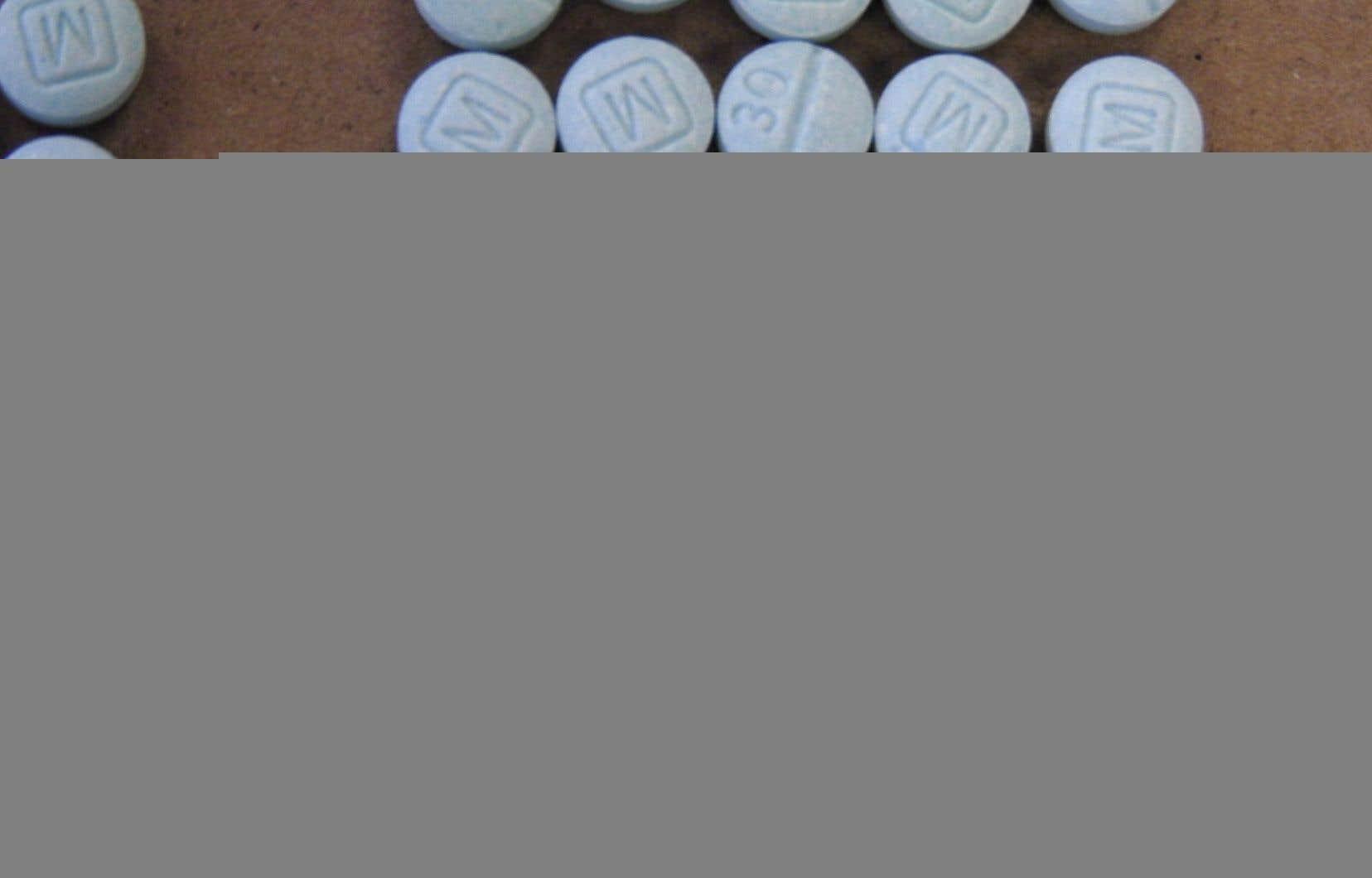 Des comprimés de fentanyl, une des susbtances à la source de la crise des opioïdes