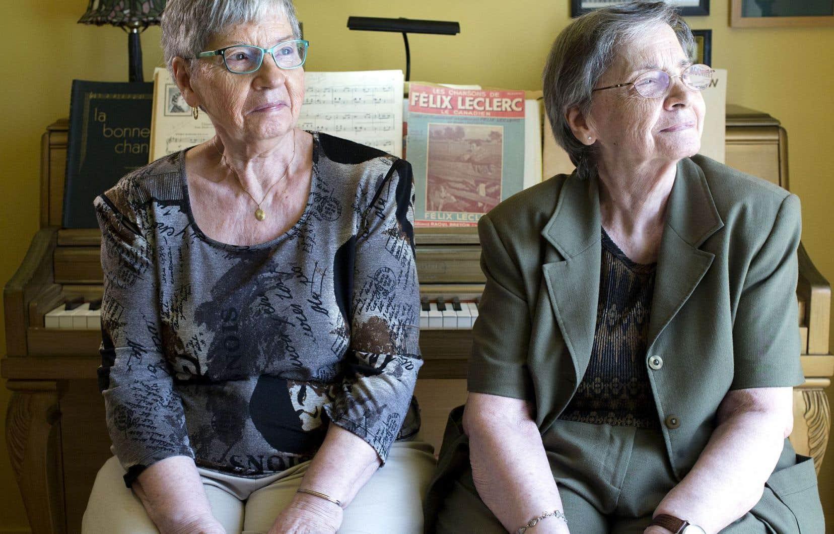 Annette et Cécile Dionne veulent que le musée qui leur est consacré ainsi qu'à leurs trois autres jumelles soit protégé par le gouvernement canadien.
