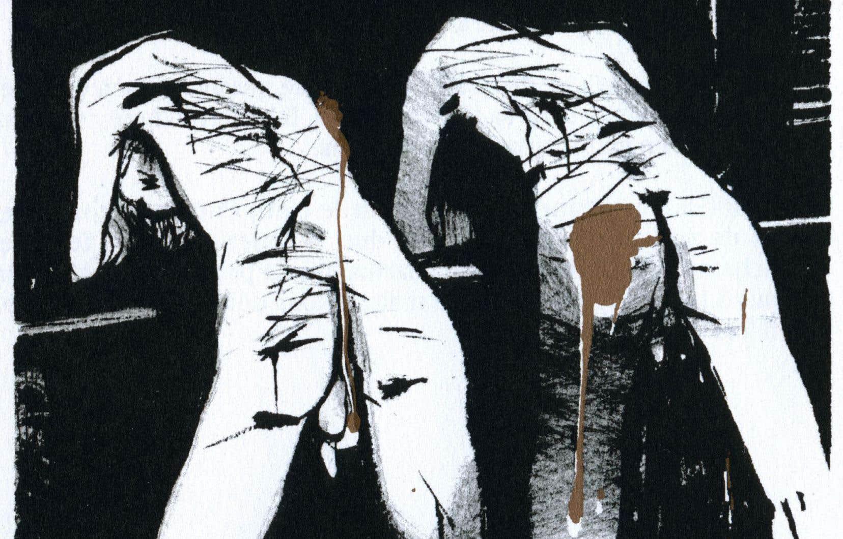 L'œuvre atypique est illustrée par les encres de Mivil Deschênes.