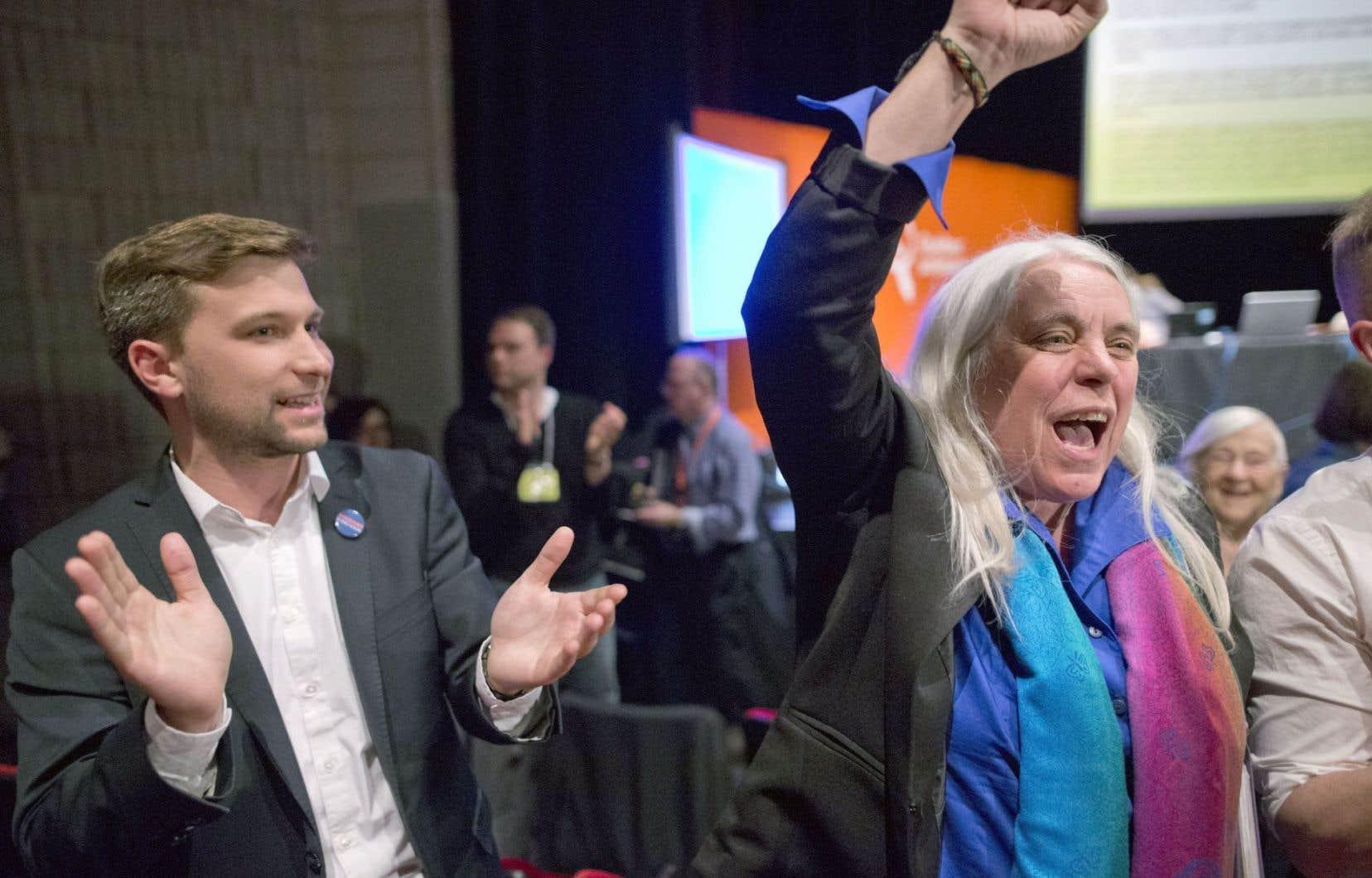 Québec solidaire a deux nouveaux porte-parole, Gabriel Nadeau-Dubois et Manon Massé.