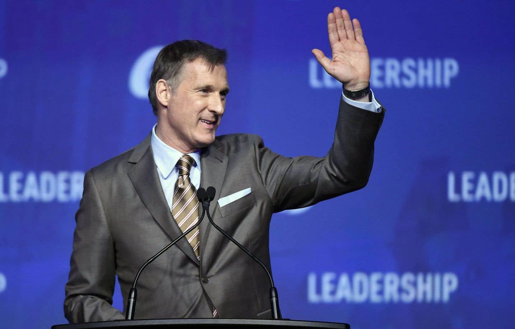Maxime Bernier, comme les autres candidats à la direction du Parti conservateur du Canada, a prononcé son dernier discours vendredi soir avant le vote des militants qui a lieu ce samedi.