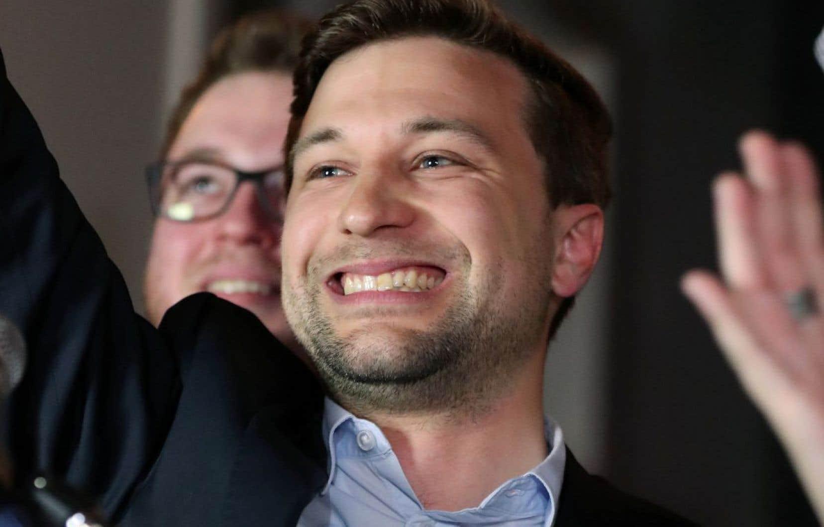 Le candidat de Québec solidaire, Gabriel Nadeau-Dubois