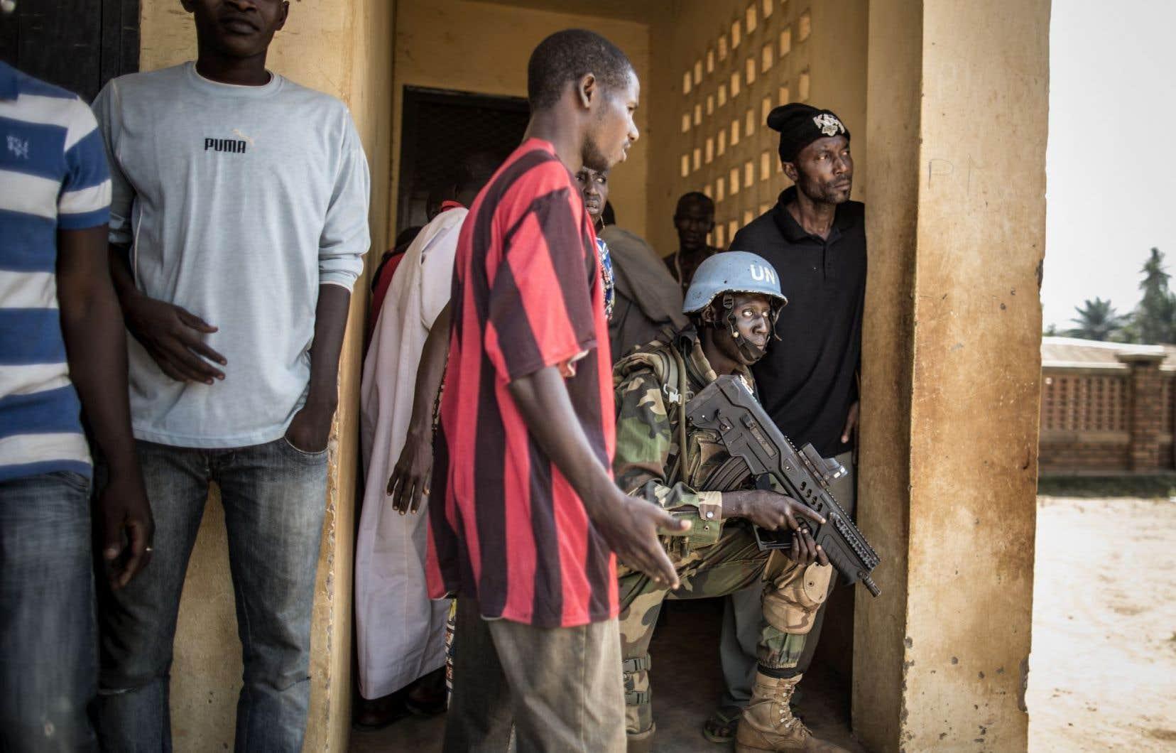 Bangassou a été victime d'attaques de bandes armées malgré la présence de Casques bleus.