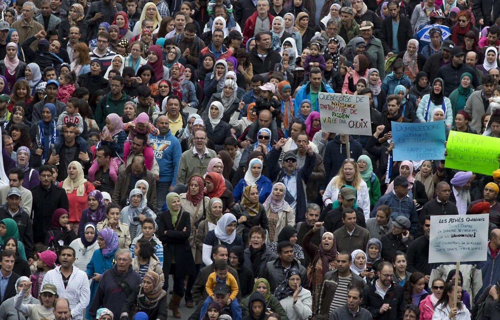 Manifestation contre la charte de la laïcité, 14 septembre 2013