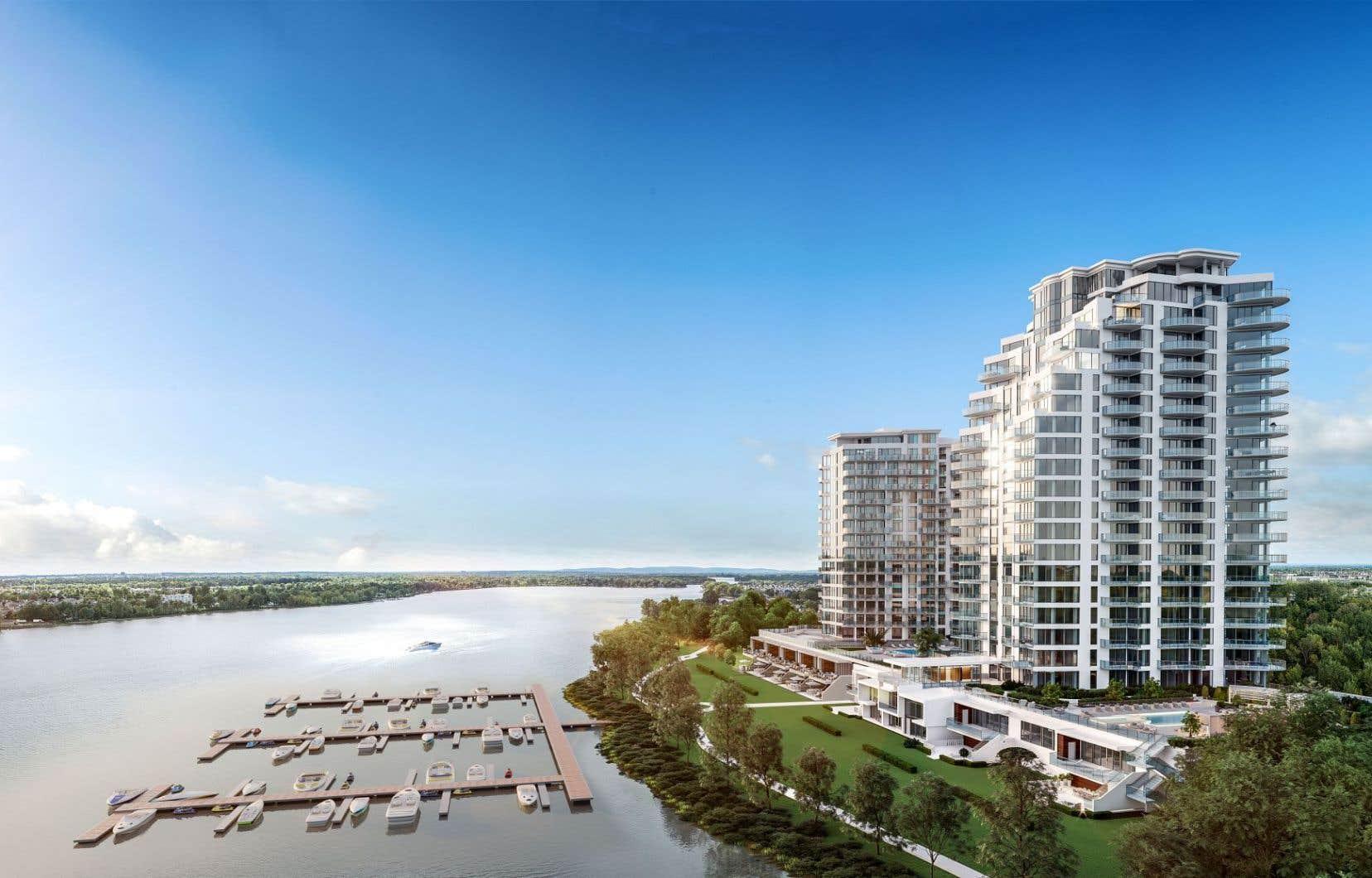 «Le reflet du soleil dans l'eau, se réveiller le matin et voir la rivière, c'est ça le feeling Aquablu», assure John Garabedian, président du Groupe Garabedian Lifestyle et promoteur du projet immobilier Aquablu.