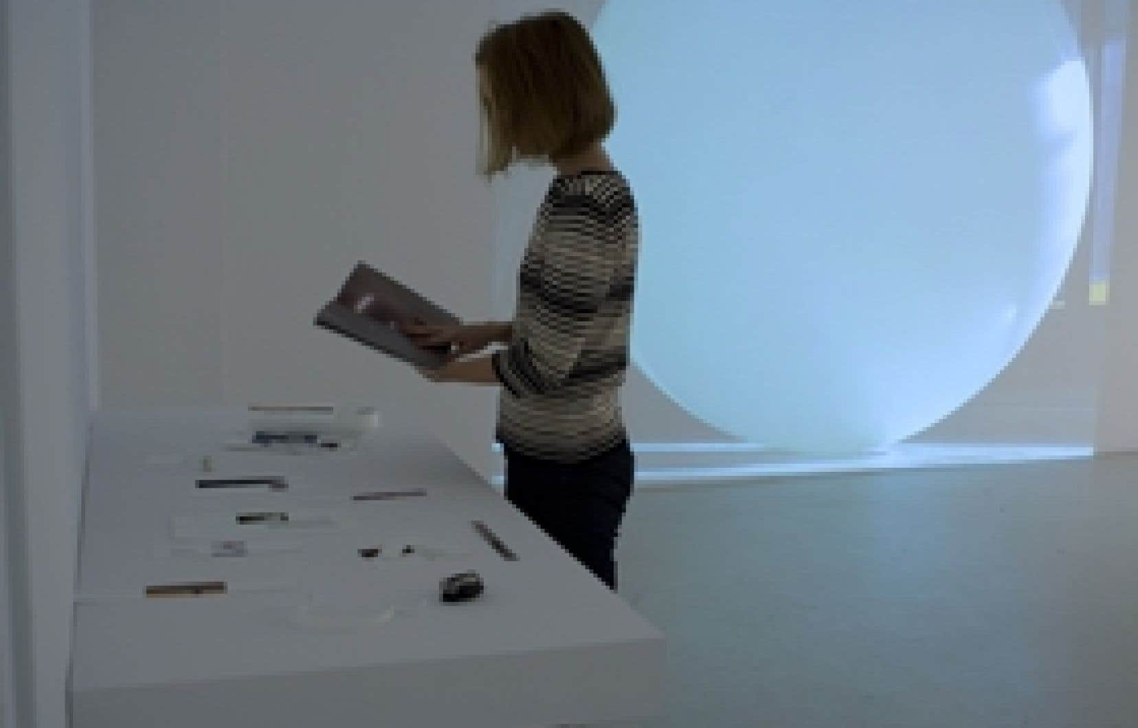 Une vue partielle de l'exposition De Groot au centre B-312.