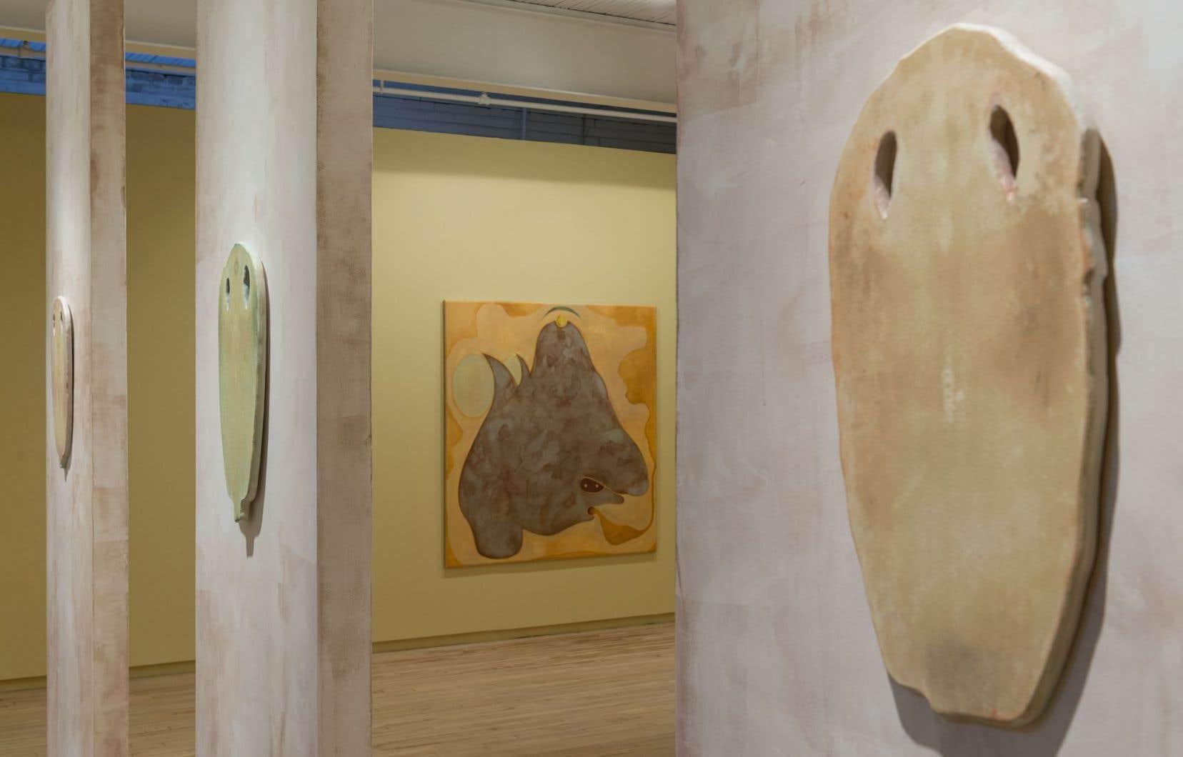 Vue sur l'exposition de Beth Stuart «Le Golem, son amant» à la Battat Contemporary