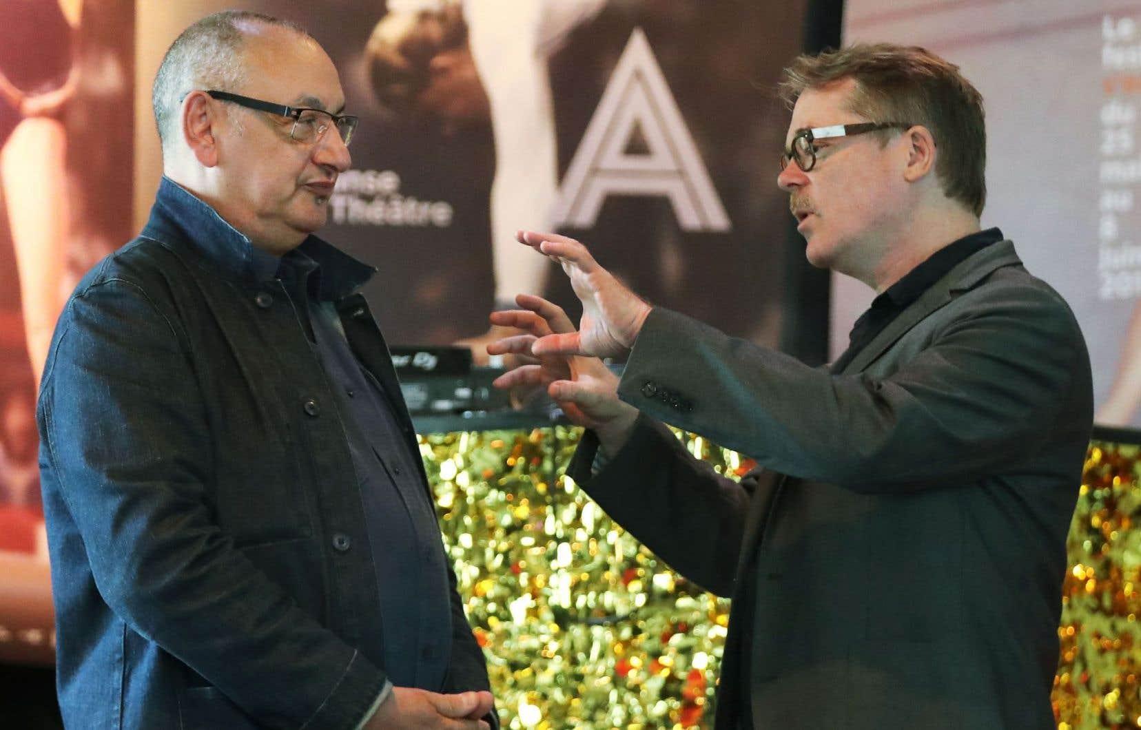 Jean-Paul Montanari, directeur général de Montpellier Danse, et Martin Faucher, directeur artistique du Festival TransAmériques