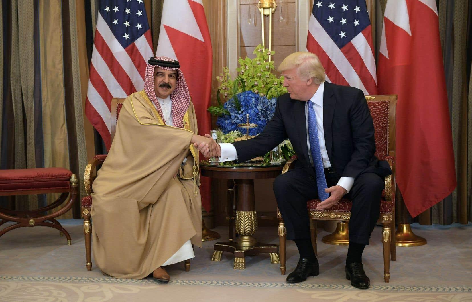 La dispersion du «sit-in» le 23 mai a été ordonnée 48 heures après une rencontre entre le roi Hamad de Bahreïn et le président Trump.