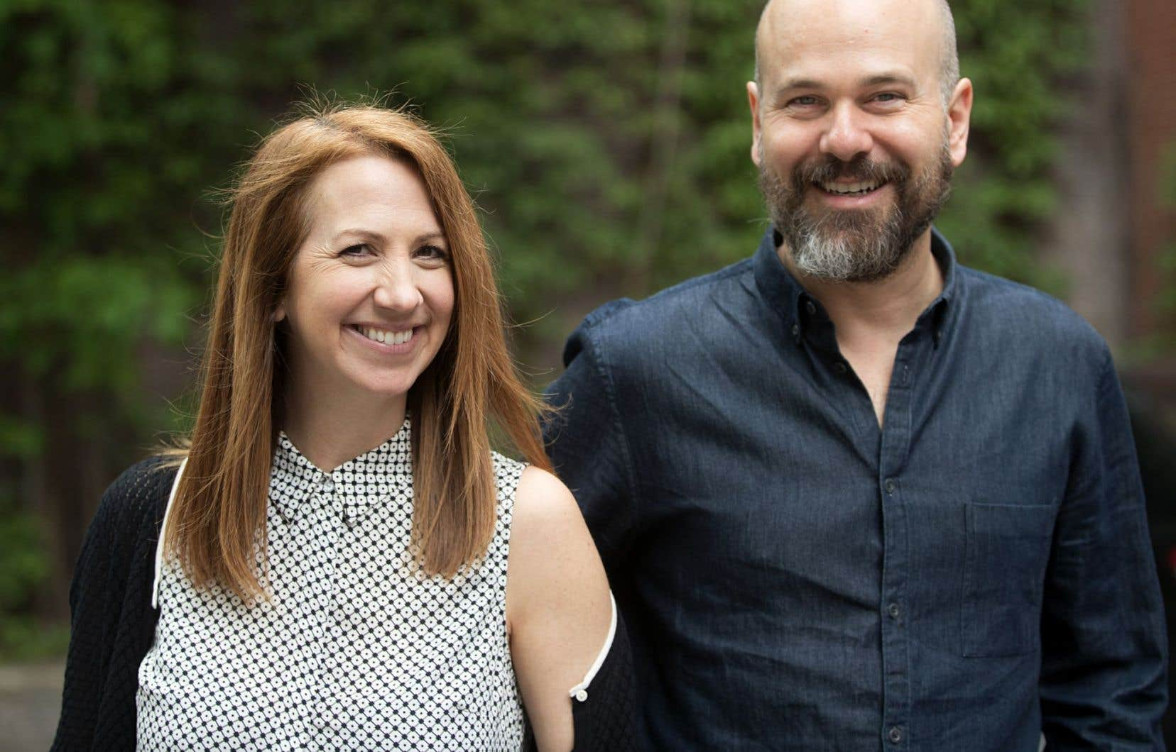 Mélanie Maynard et Jonathan Racine se connaissent depuis leur formation théâtrale.