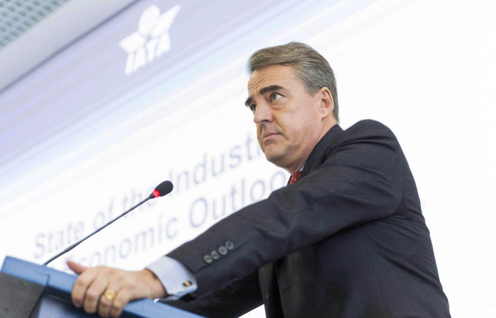 Alexandre de Juniac, directeur general de l'Association internationale du transport aérien (IATA)